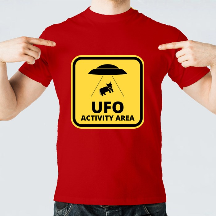 Cow Alien Abduction T-Shirts