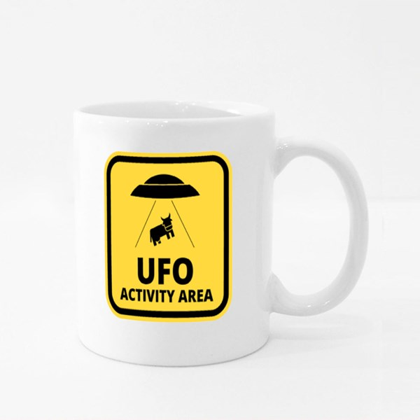 Cow Alien Abduction Colour Mugs
