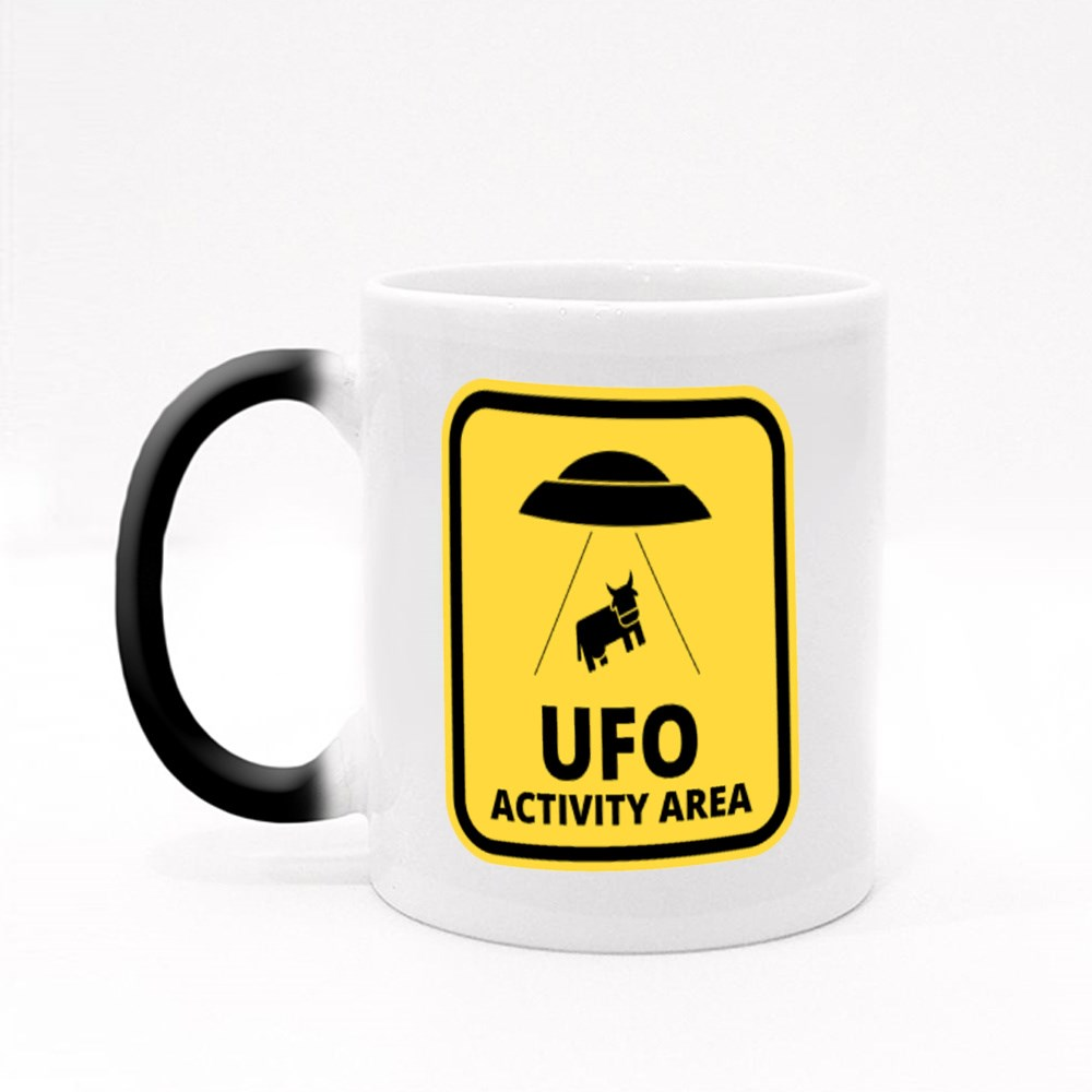 Cow Alien Abduction Magic Mugs
