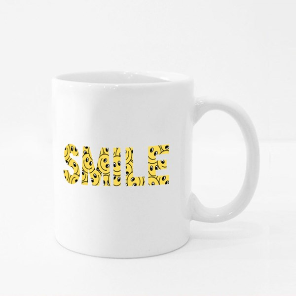 Smile Yellow Emoticon Colour Mugs