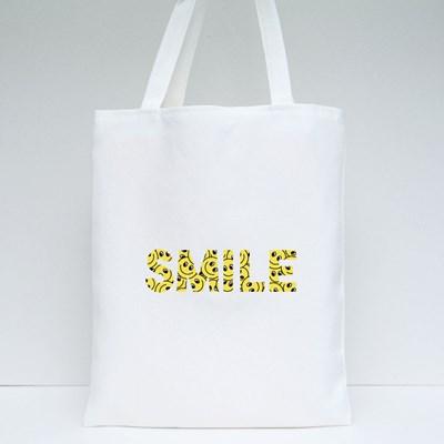 Smile Yellow Emoticon Tote Bags