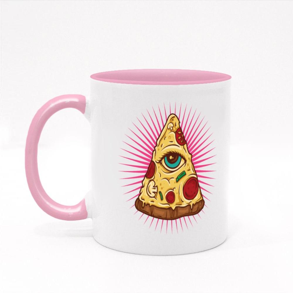 Illuminati Pizza Colour Mugs