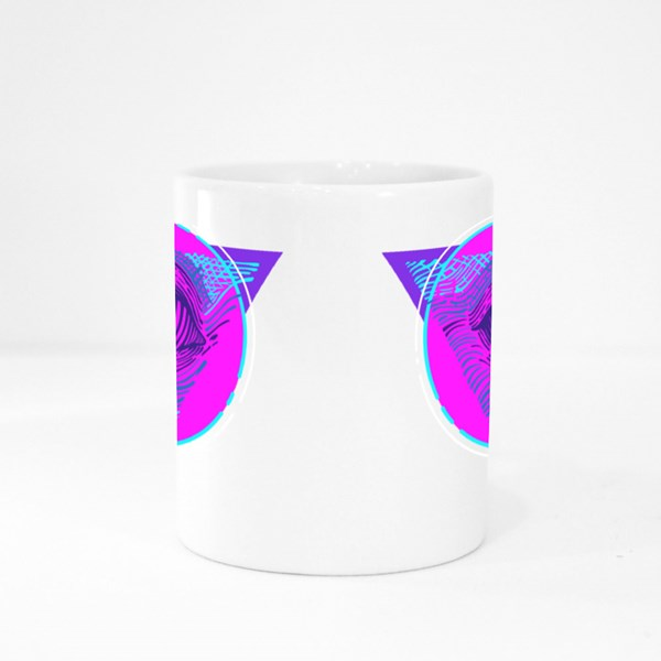 Cyberpunk Masonic Eye Colour Mugs