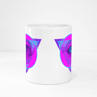 Cyberpunk Masonic Eye Magic Mugs