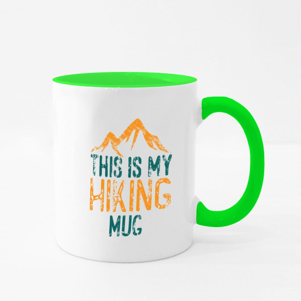 This Is My Hiking Colour Mugs