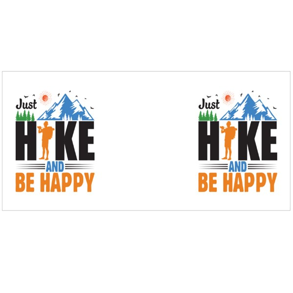 Just Hike and Be Happy Colour Mugs