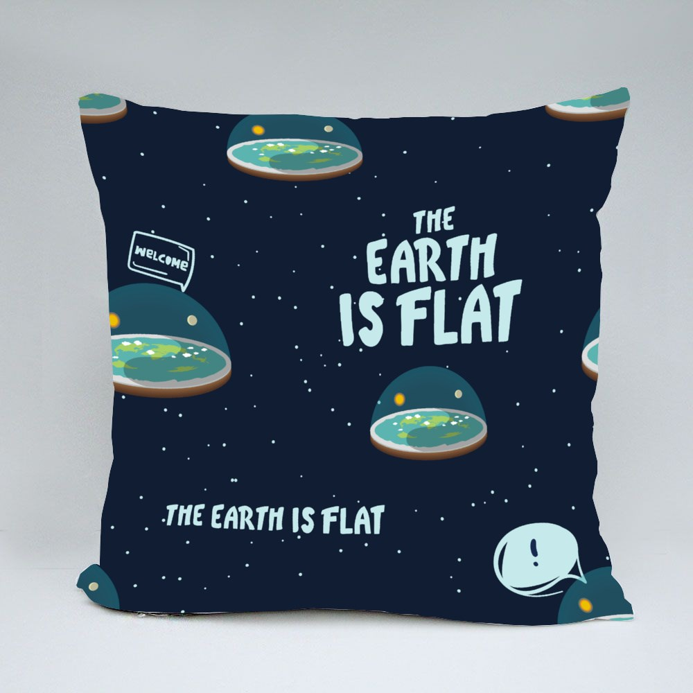 Flat Earth Is Real Throw Pillows