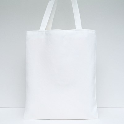 Two Hands Going to Touch Tote Bags