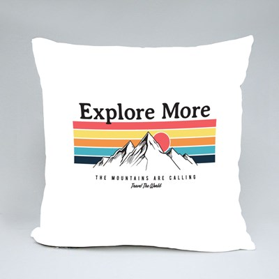 The Mountains Are Calling Throw Pillows