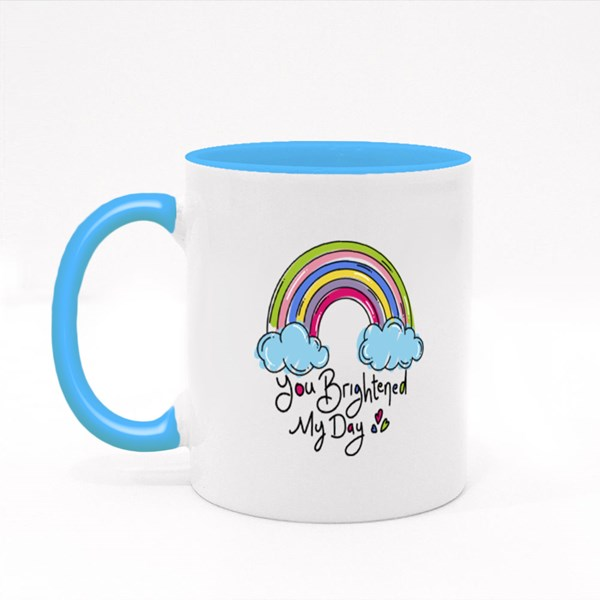Rainbow With the Words Colour Mugs