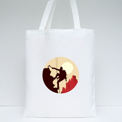 Climbing Under the Sun Tote Bags