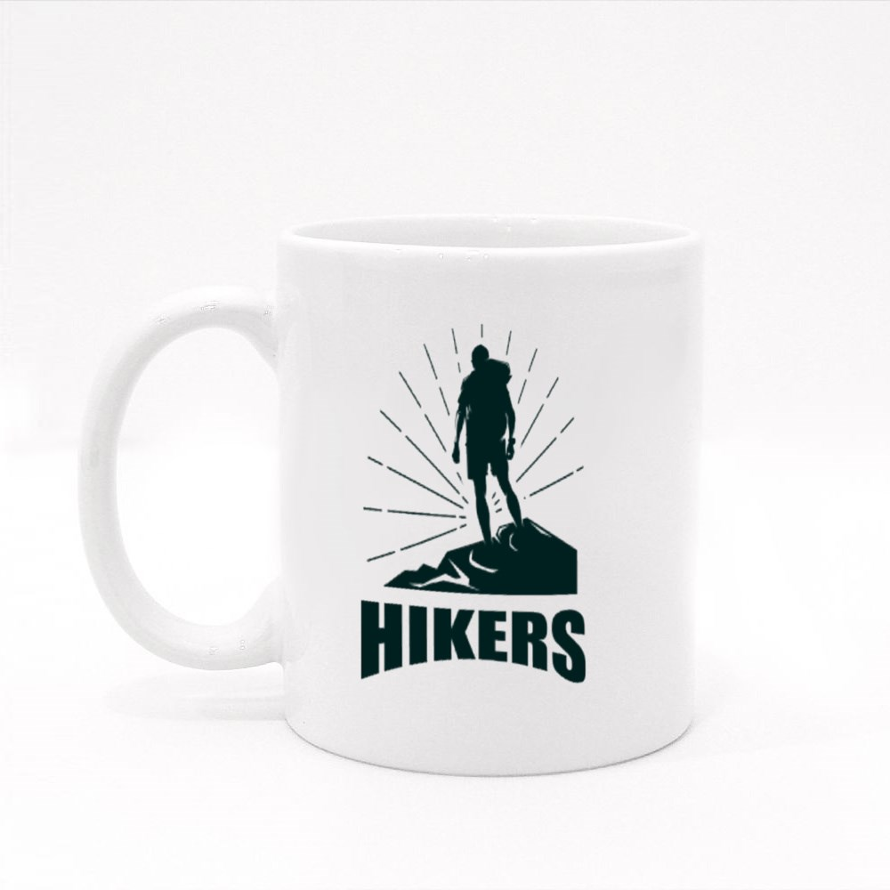 Shining Hikers in Silhouette Colour Mugs