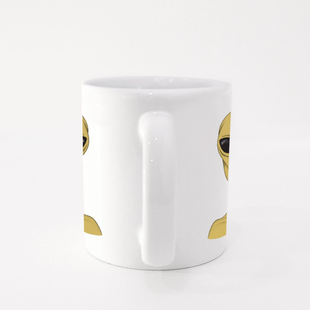 Extraterrestrial Peace Sign Colour Mugs