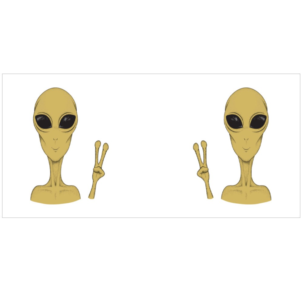 Extraterrestrial Peace Sign Magic Mugs