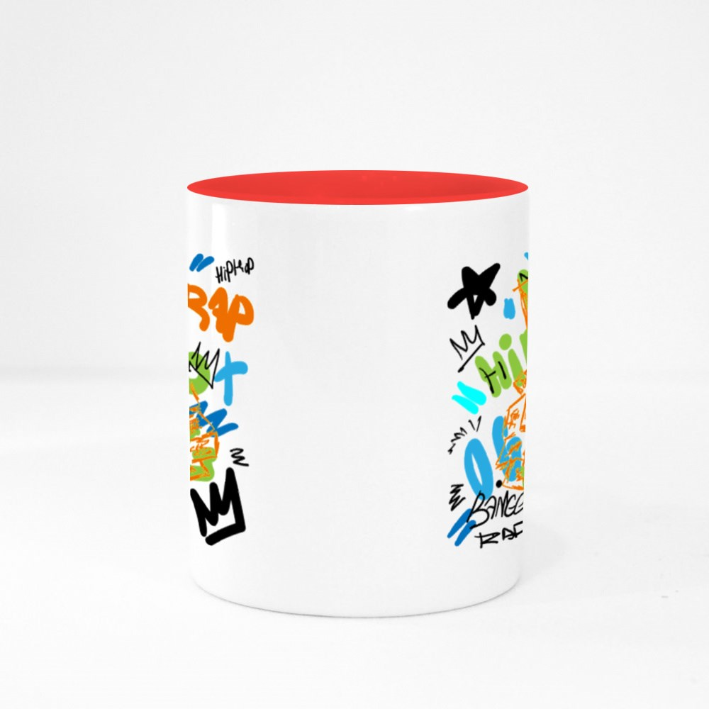 Colorful Rap With Skull Colour Mugs