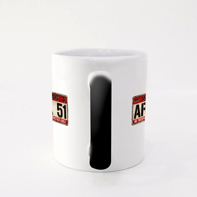 Warning Area51 No Trespassing Magic Mugs