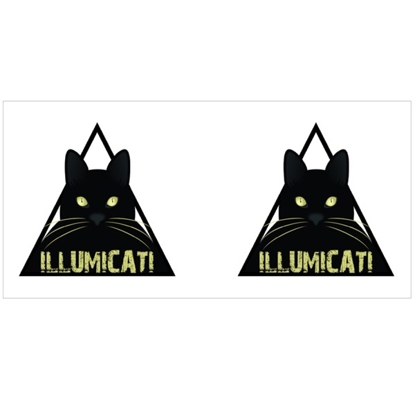 Illumicati Black Cat Colour Mugs