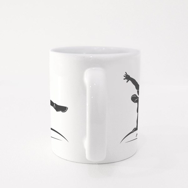 Parkour Jump Silhouette Colour Mugs