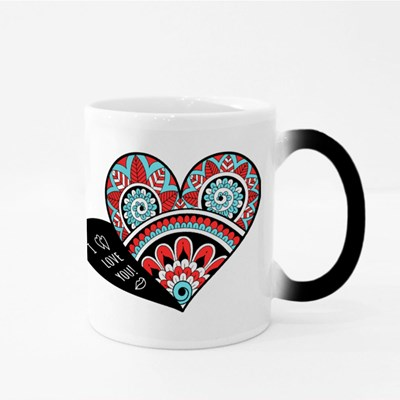Openwork Heart for Valentines Magic Mugs