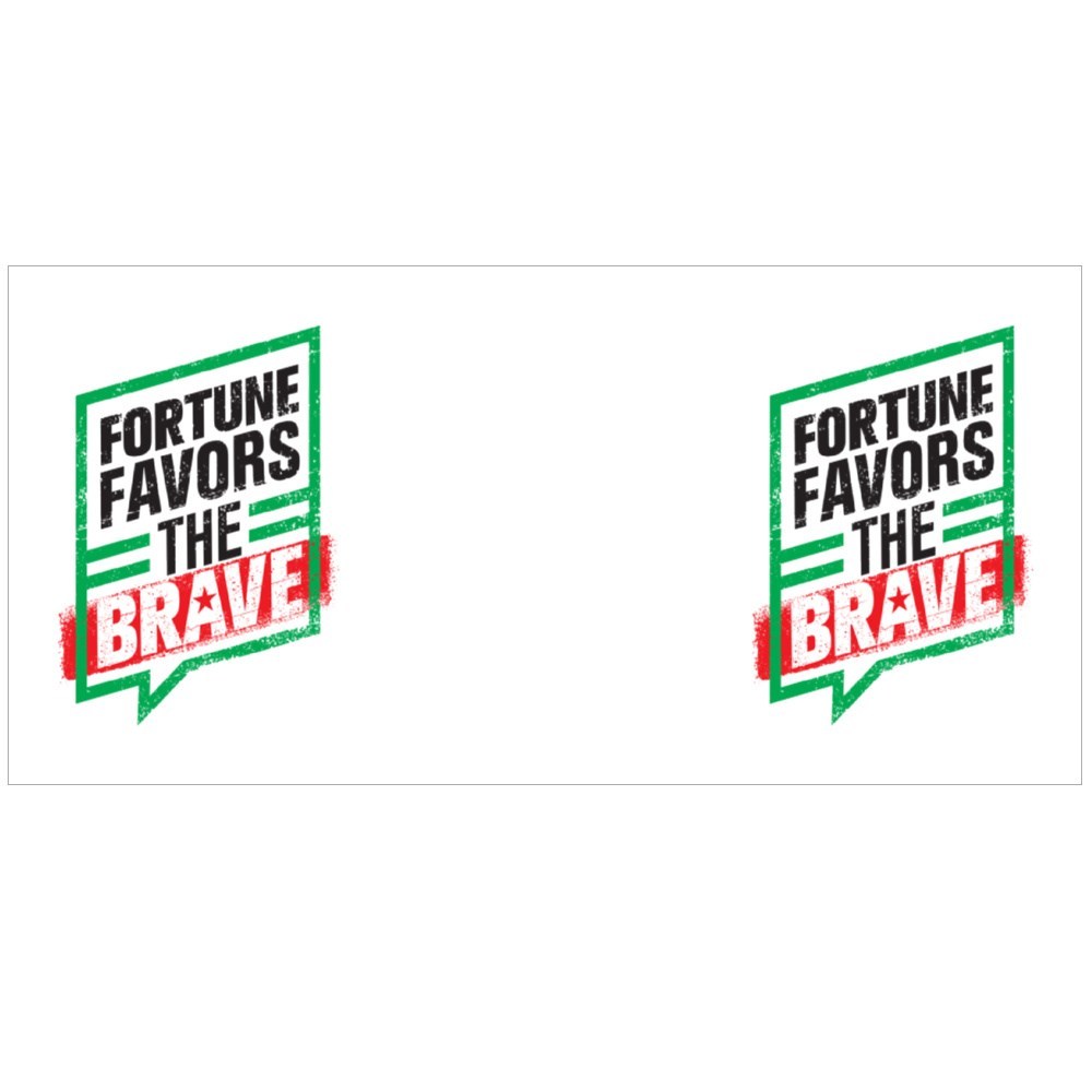 Fortune Favors the Brave Colour Mugs