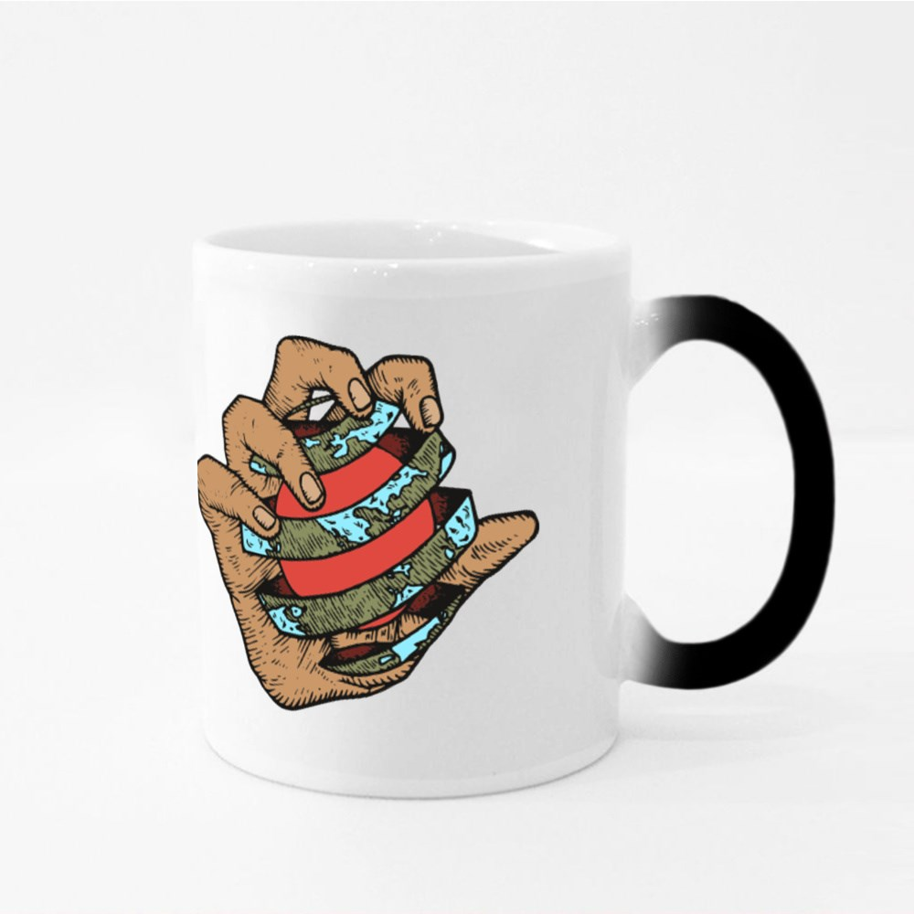 Hand Grasping Earth Magic Mugs