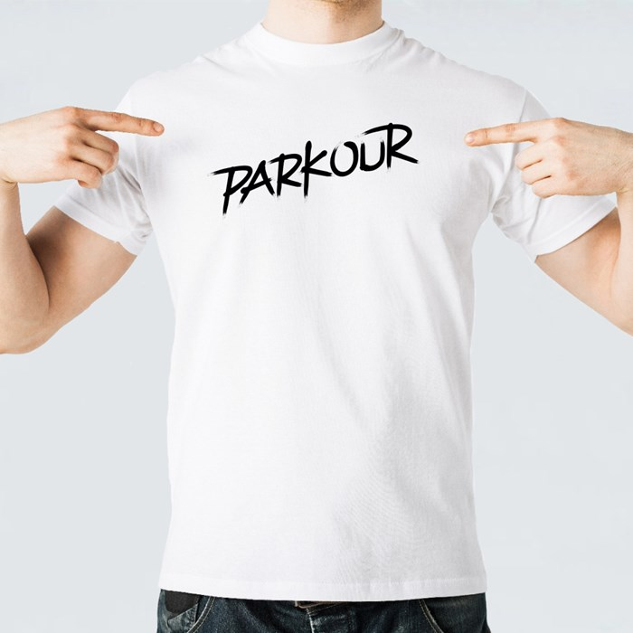 Parkour in Black T-Shirts