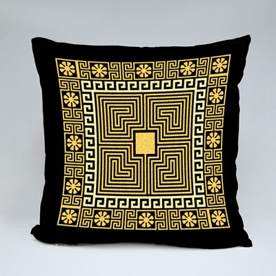 Square Greek Ornament (Meander Throw Pillows