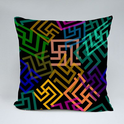 Meanders Abstract Symbol Throw Pillows
