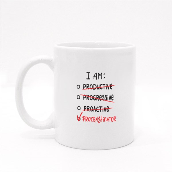 I Am a Procrastinator Colour Mugs
