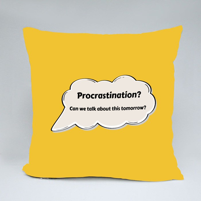 Can We Talk About It Tomorrow Throw Pillows