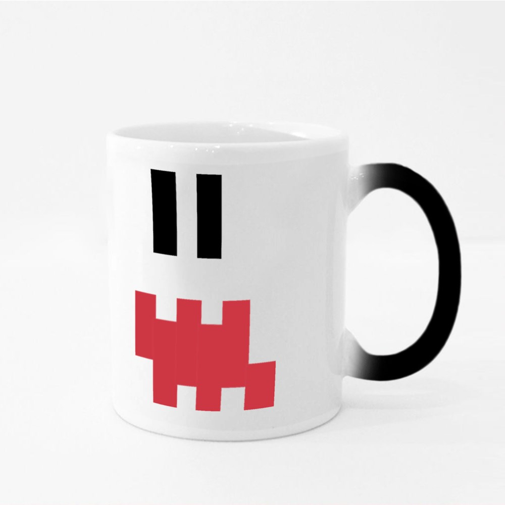 Pixel Emoji Shocked Face Magic Mugs