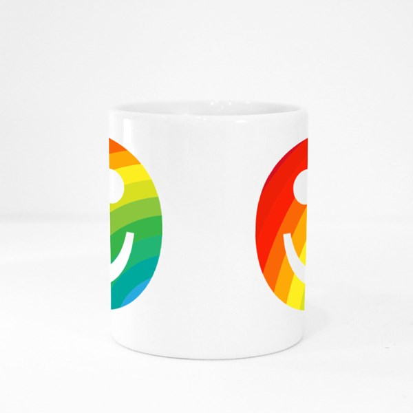 Rainbow Smiling Emoji Face Colour Mugs