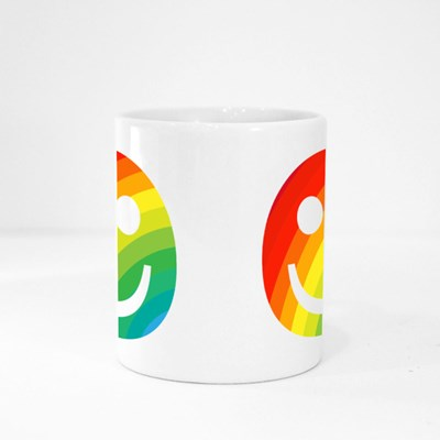 Rainbow Smiling Emoji Face Magic Mugs
