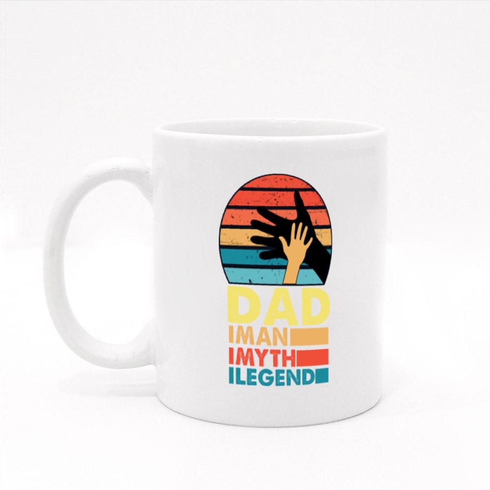 Dad the Man, Myth and Legend Colour Mugs