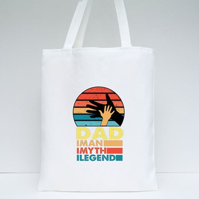 Dad the Man, Myth and Legend Tote Bags