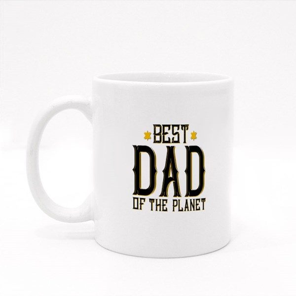 Best Dad on the Planet Colour Mugs