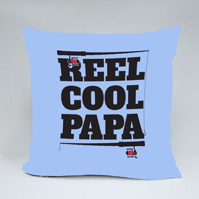 A Reel Cool Papa Throw Pillows