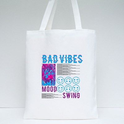 Bad Vibes Mood Swing Tote Bags