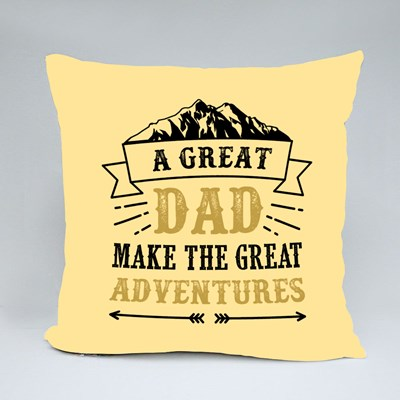 A Great Dad Adventures Throw Pillows
