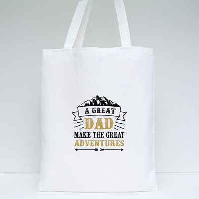 A Great Dad Adventures Tote Bags