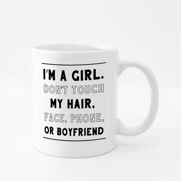 I'm a Girl Quotes Colour Mugs