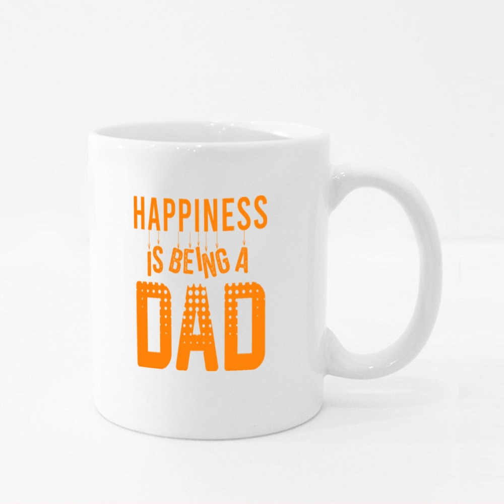 Happiness Is Being a Dad Colour Mugs