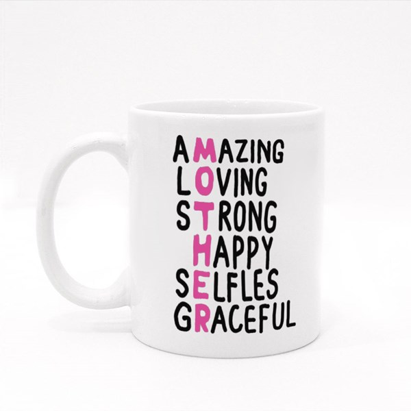 Mother Qualities Crossword Colour Mugs