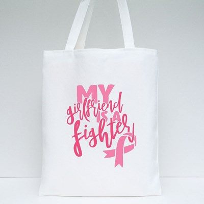 My Girlfriend Is a Fighter Tote Bags