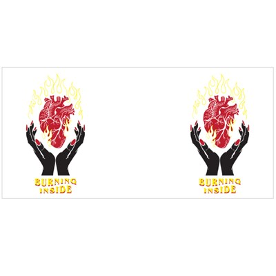 Burning Heart Slogan Magic Mugs