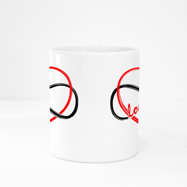 Text Symbol Forever Love Colour Mugs
