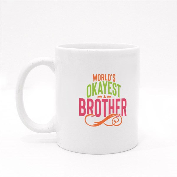 World's Okayest Brother Colour Mugs