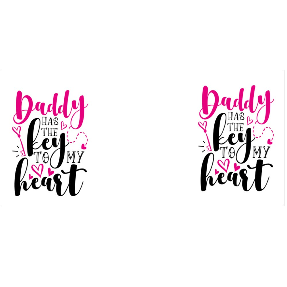 Daddy Has the Key to My Heart Colour Mugs