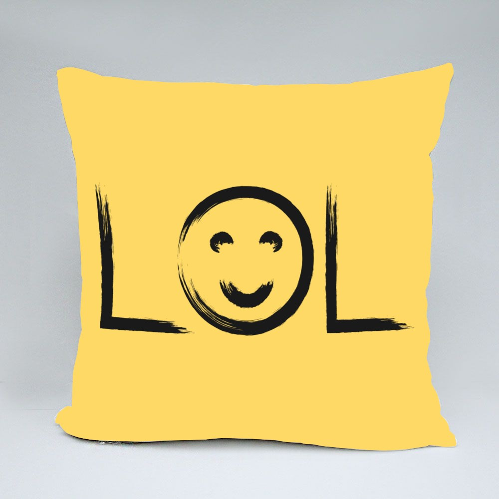 Lol and Smiley Face Throw Pillows