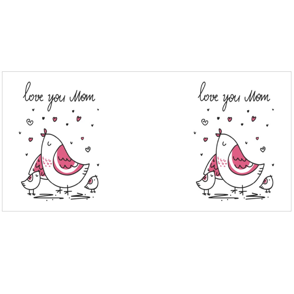 Love You Mom With Love Colour Mugs